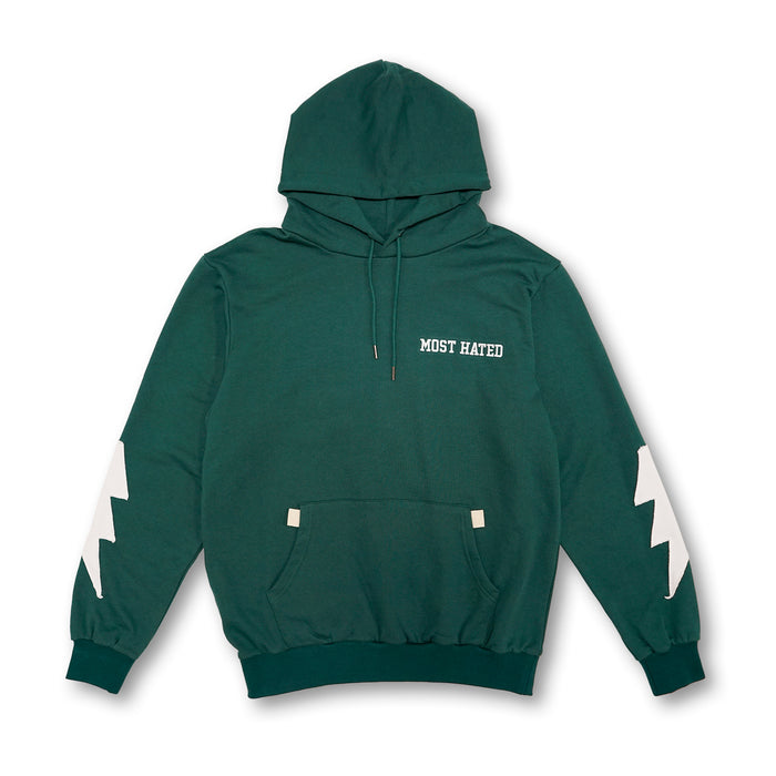 Most Hated French Terry Bolt Hoodie - Green