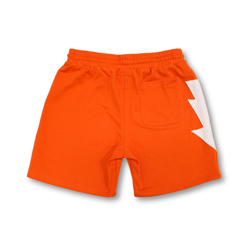 Most Hated French Terry Bolt Lounge Shorts - Orange
