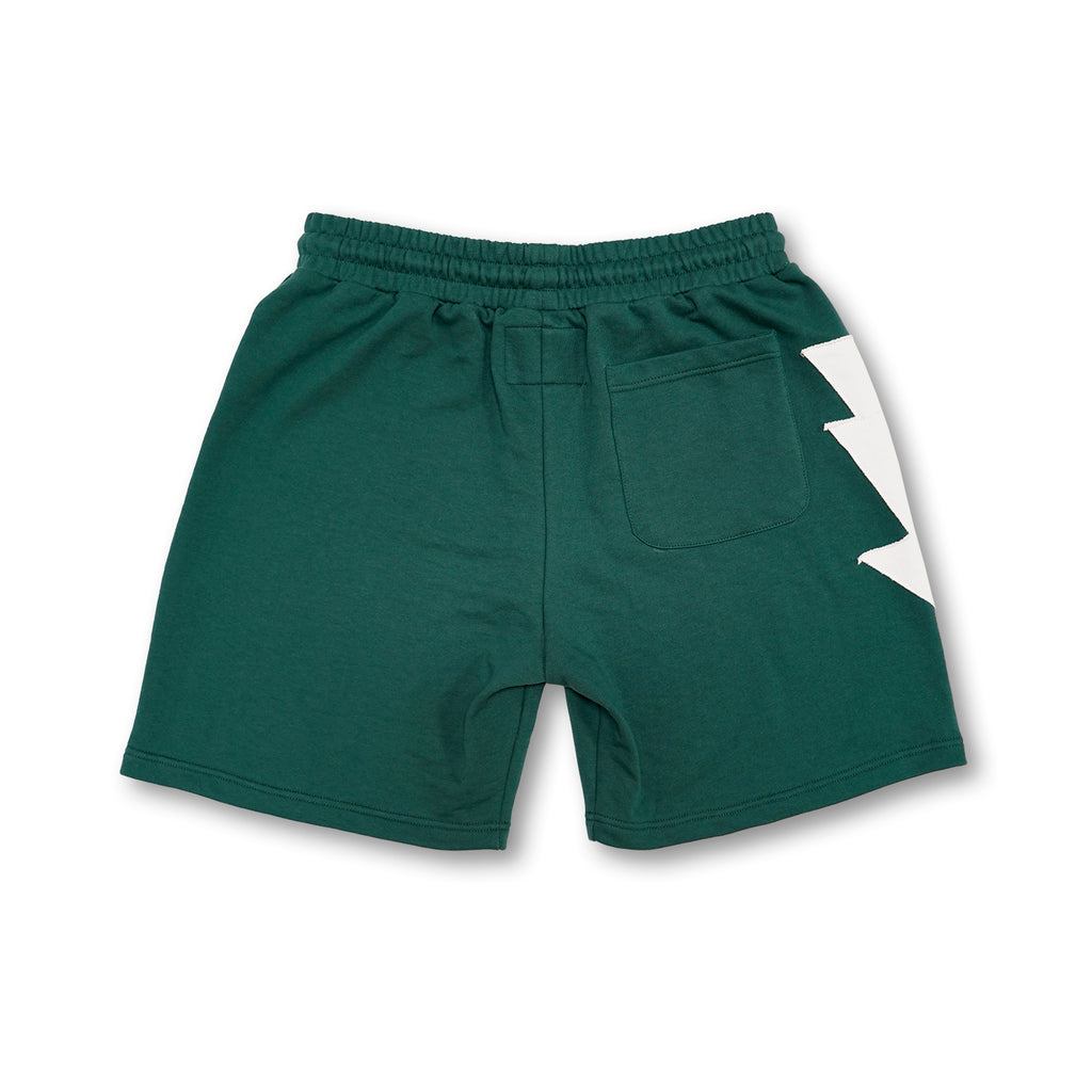 Most Hated French Terry Bolt Lounge Shorts - Green