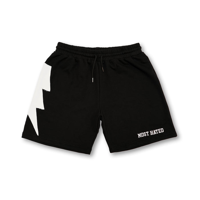 Most Hated French Terry Bolt Lounge Shorts - Black