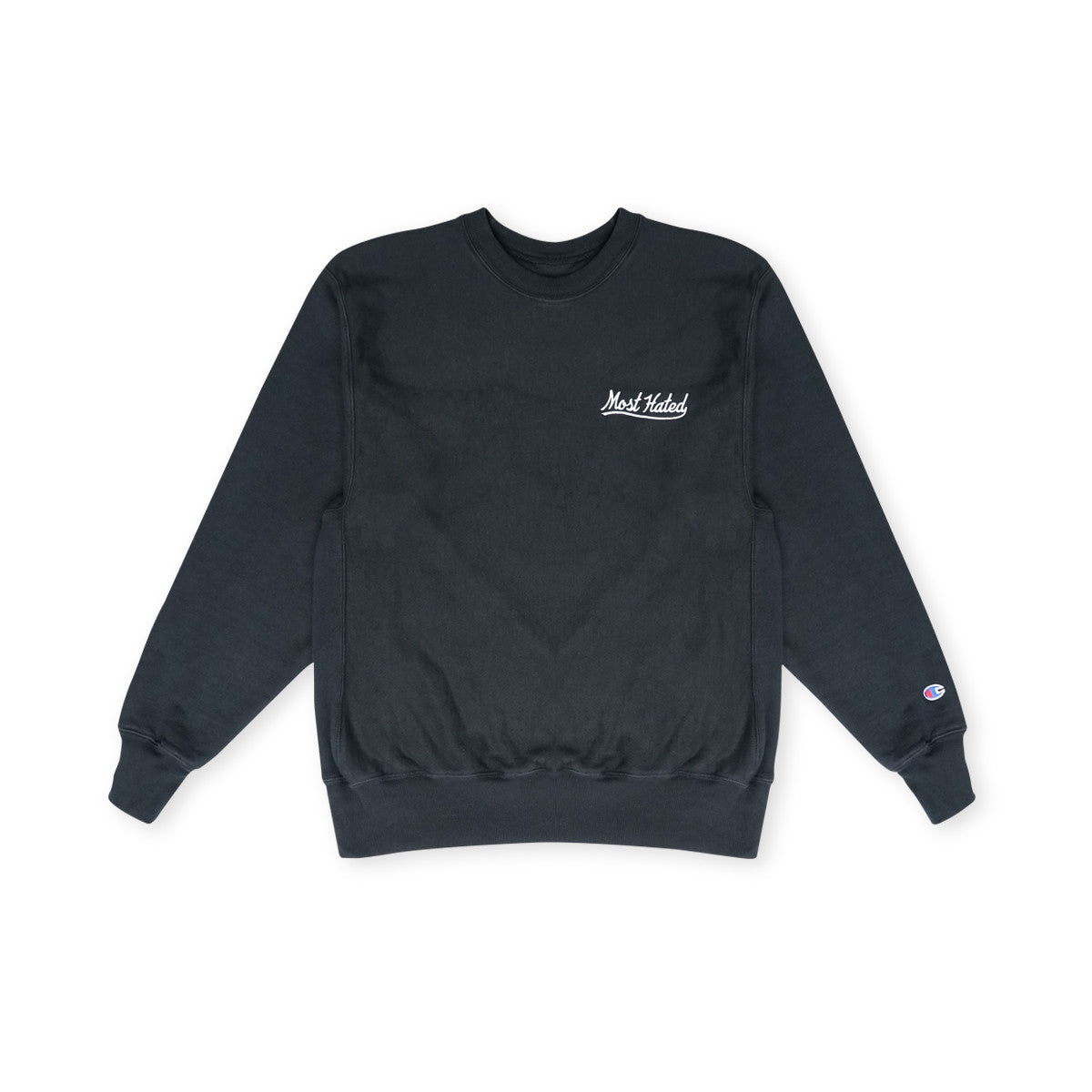 Most Hated Champion Crewneck Sweatshirt - Black