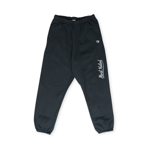 Most Hated Champion Sweatpants - Black