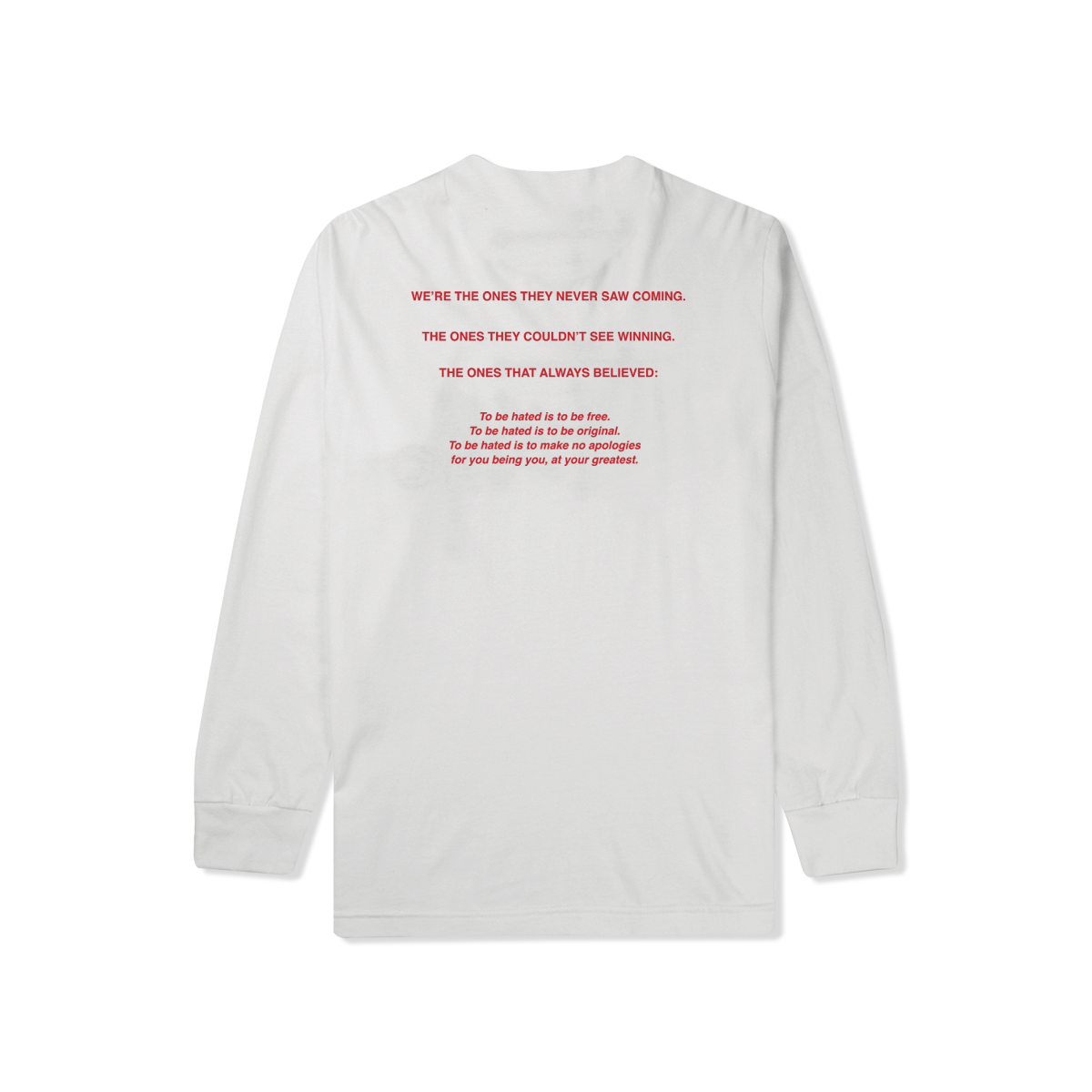 Most Hated Manifesto L/S Tee - White