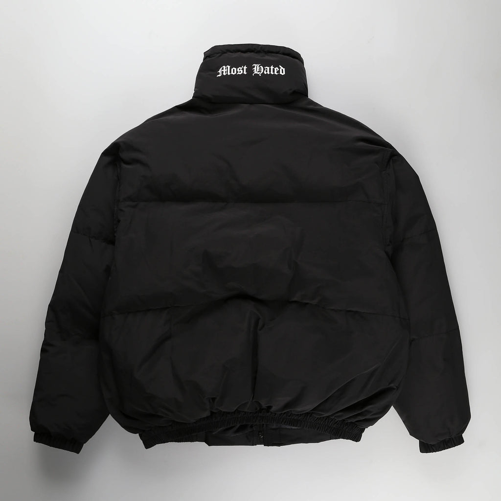 MOST HATED NYLON PUFFER JACKET- BLACK