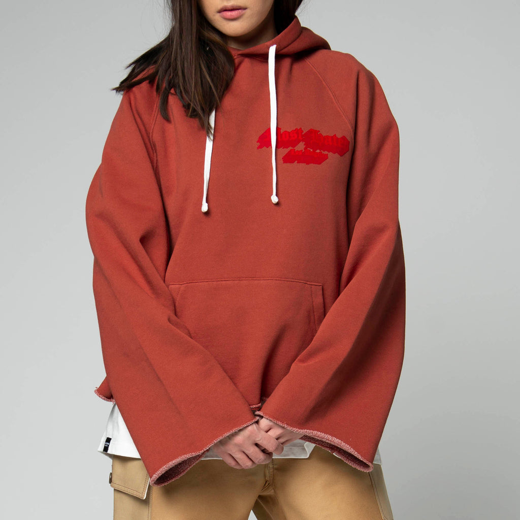 MOST HATED CROP HOODIE- RUST
