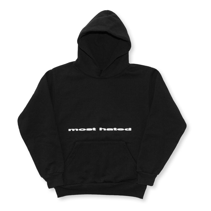 "MOST HATED ""WORLD UPSIDE DOWN"" HOODIE - BLACK"