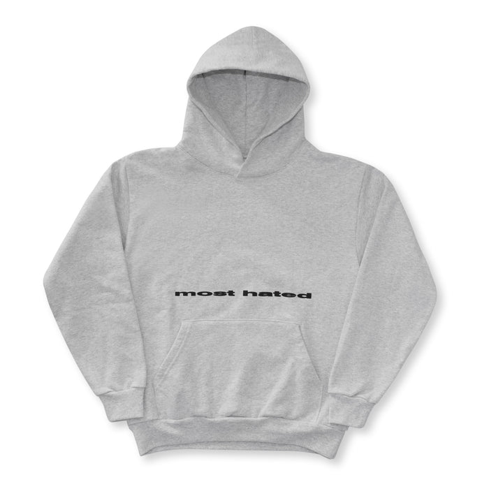 "MOST HATED ""WORLD UPSIDE DOWN"" HOODIE - ATHLETIC GREY"