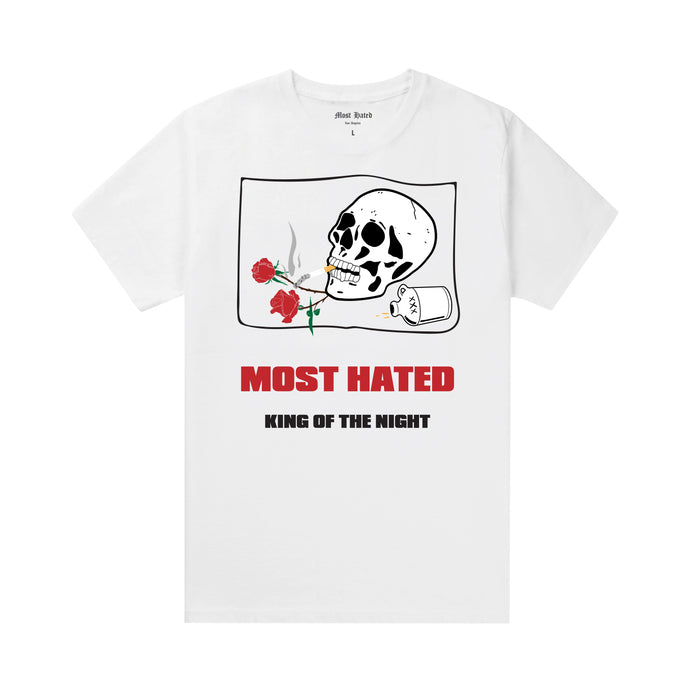 Most Hated King of the Night Tee -  White