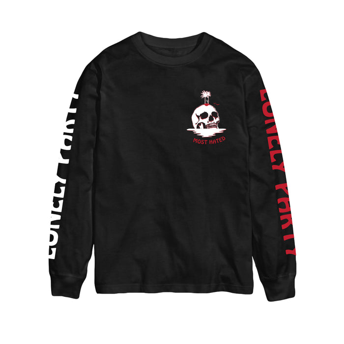 Most Hated Lonely Party L/S Tee -  Black