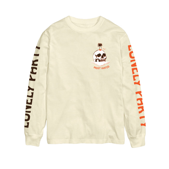 Most Hated Lonely Party L/S Tee -  Natural