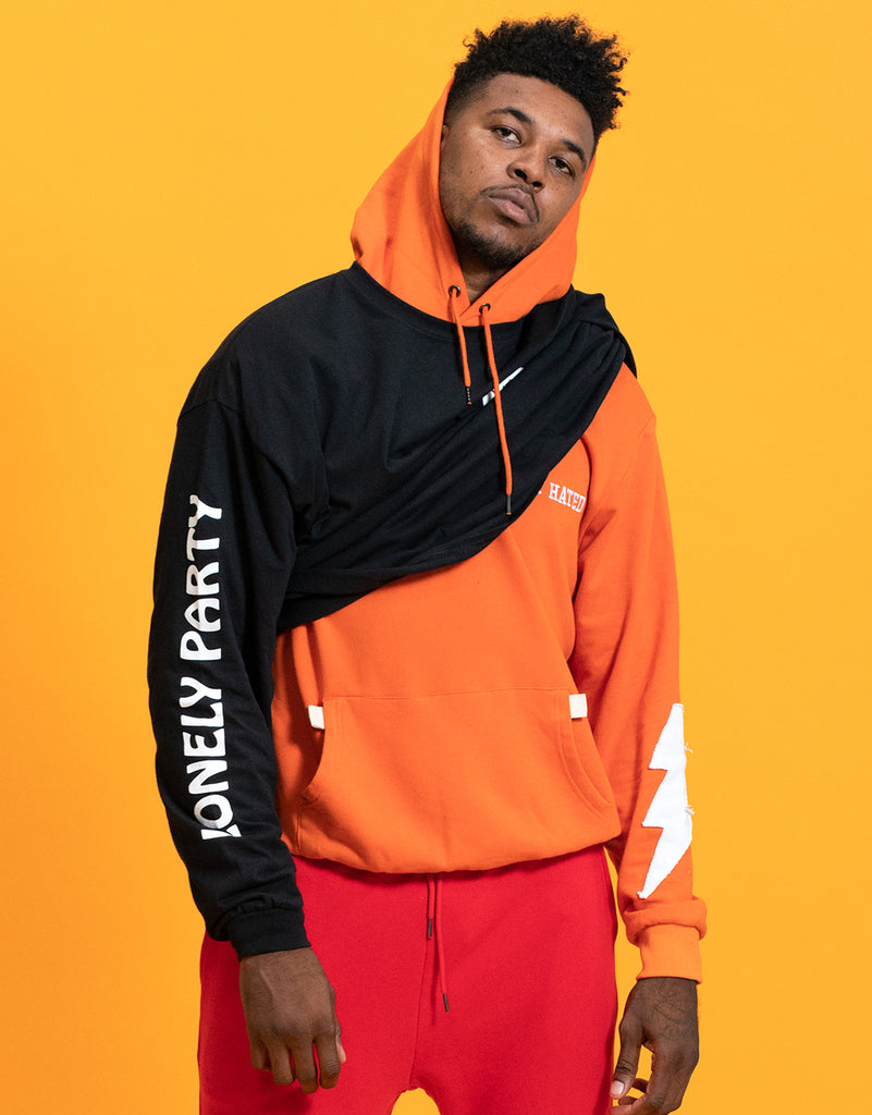 Most Hated French Terry Bolt Hoodie - Orange