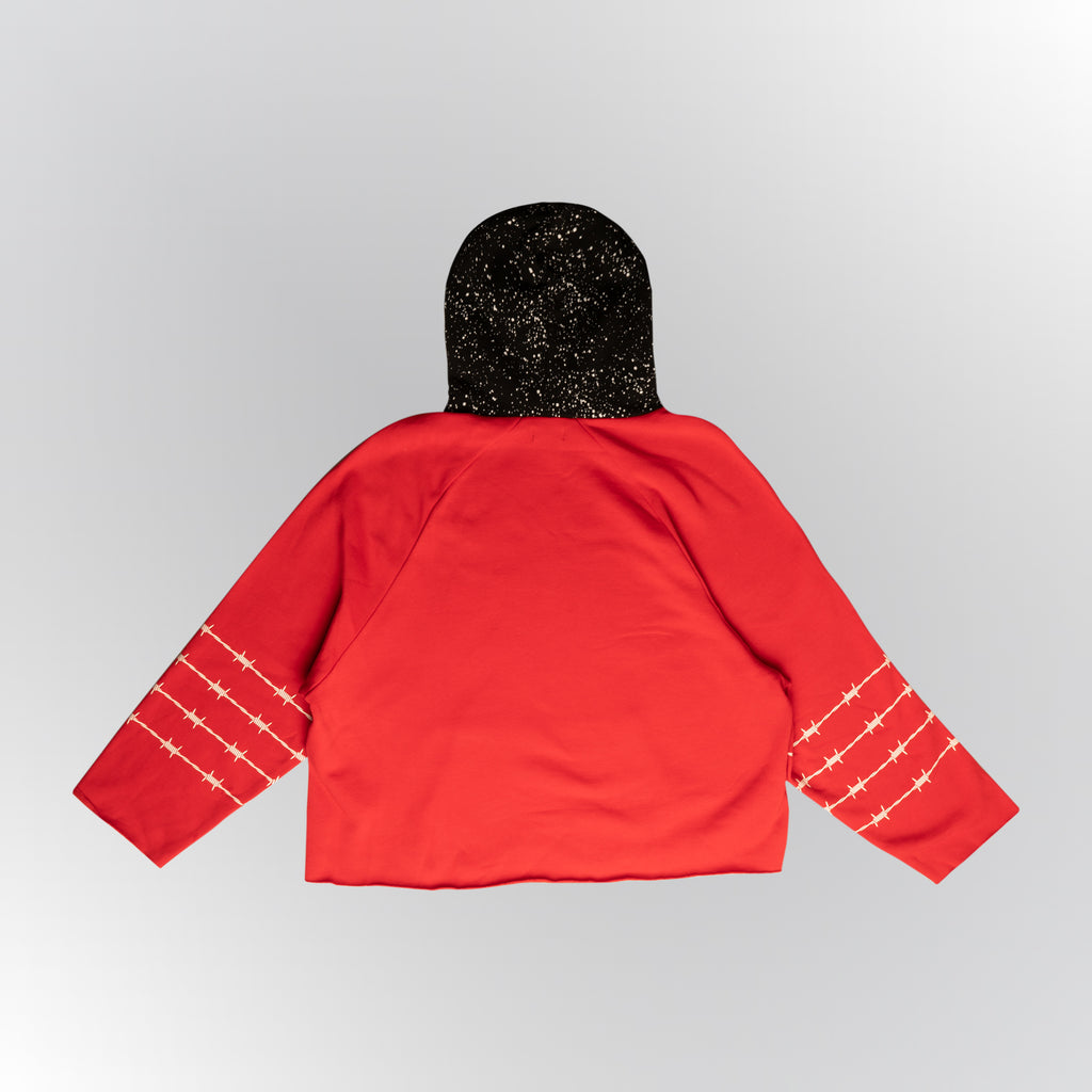 Most Hated Two-Tone Hoodie - RED/BLACK