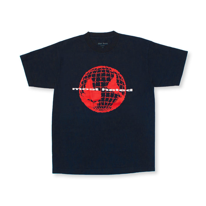"MOST HATED ""WORLD UPSIDE DOWN"" TEE - NAVY"