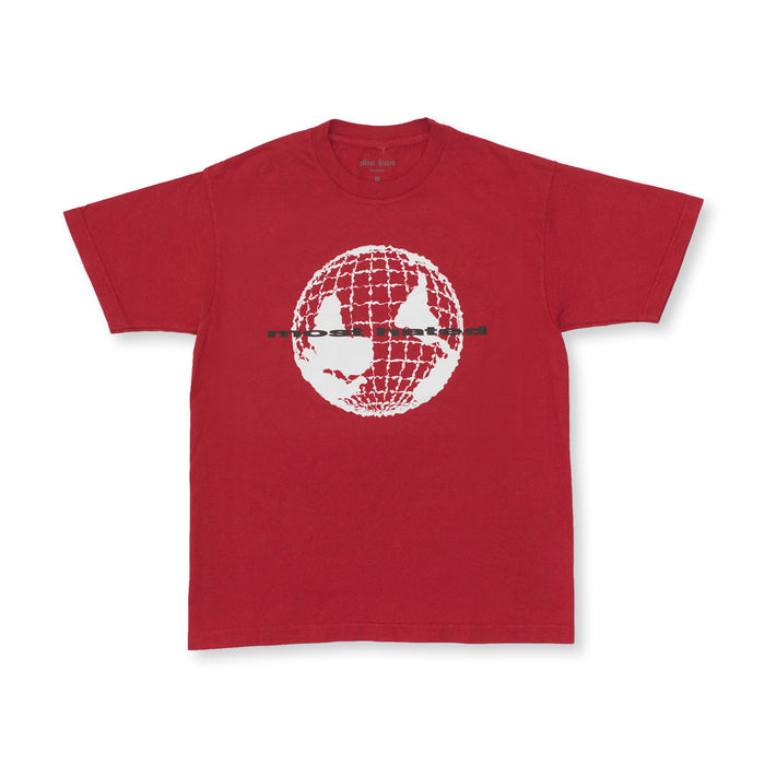 "MOST HATED ""WORLD UPSIDE DOWN"" TEE - RED"
