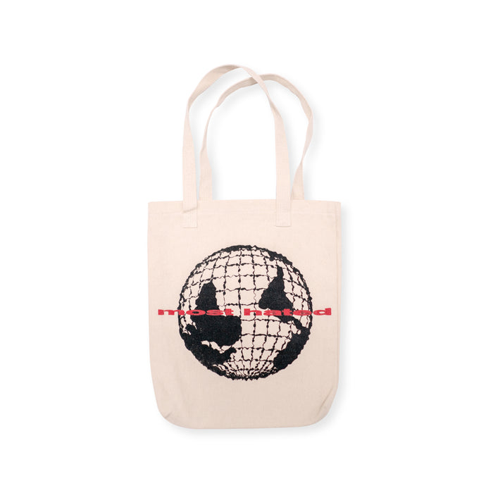 "MOST HATED ""WORLD UPSIDE DOWN"" - TOTE BAG"