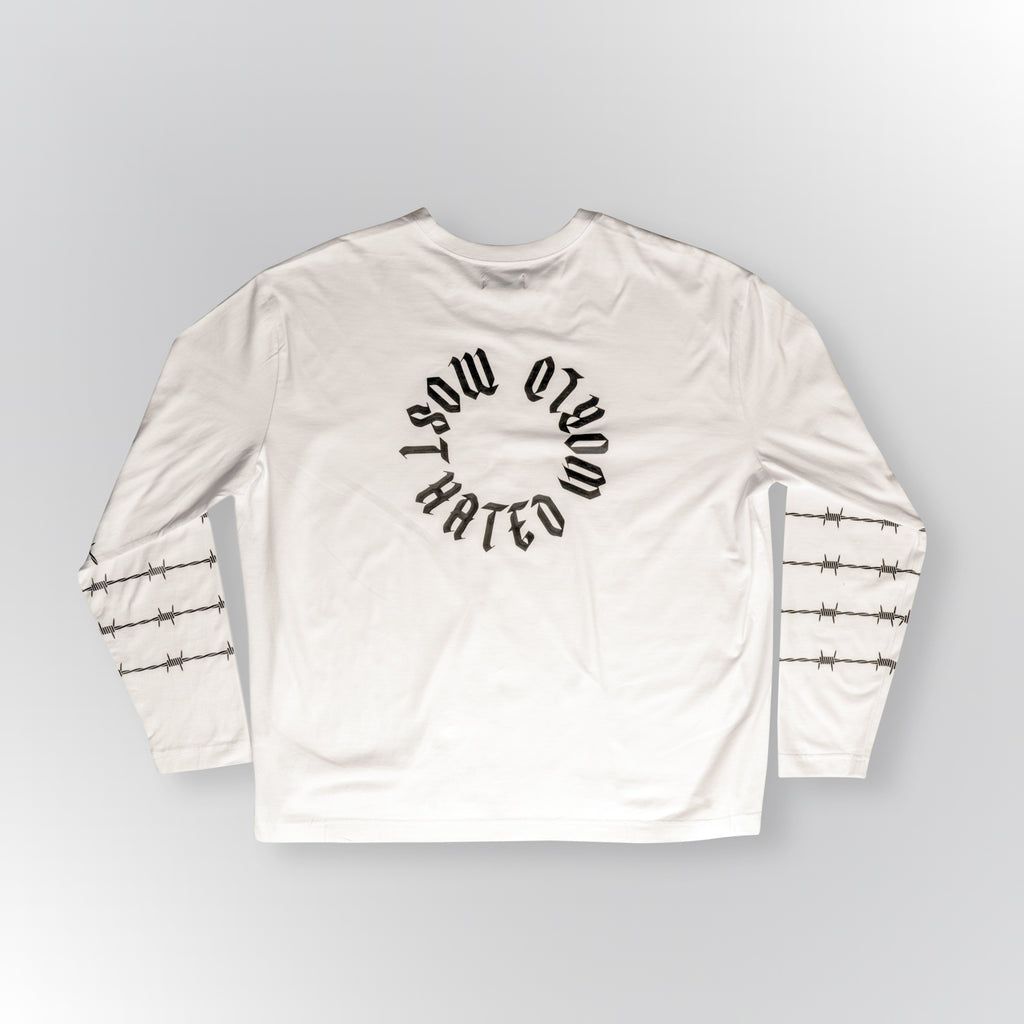 MOST HATED LONG SLEEVE TEE - WHITE