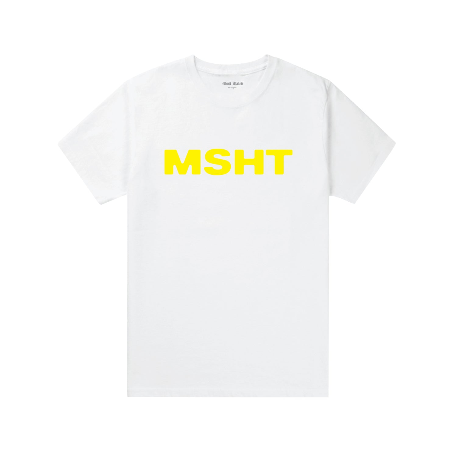 Most Hated MSHT Tee - White / Yellow