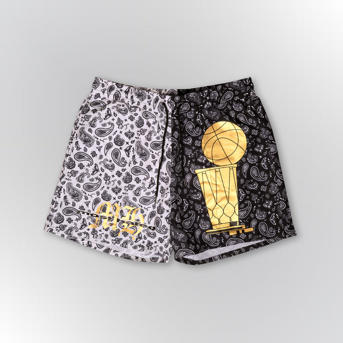 Most Hated Bandana Championship Shorts - Black/White