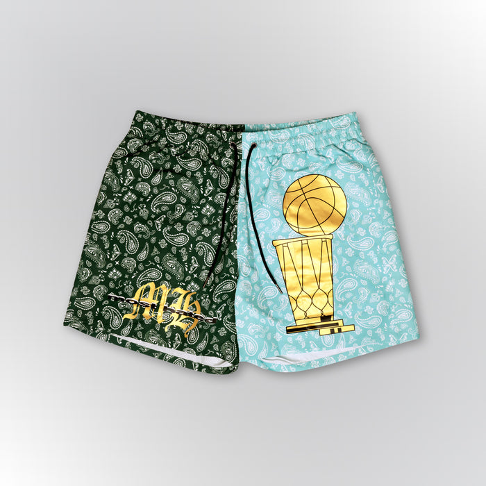 Most Hated Bandana Championship Shorts - Green