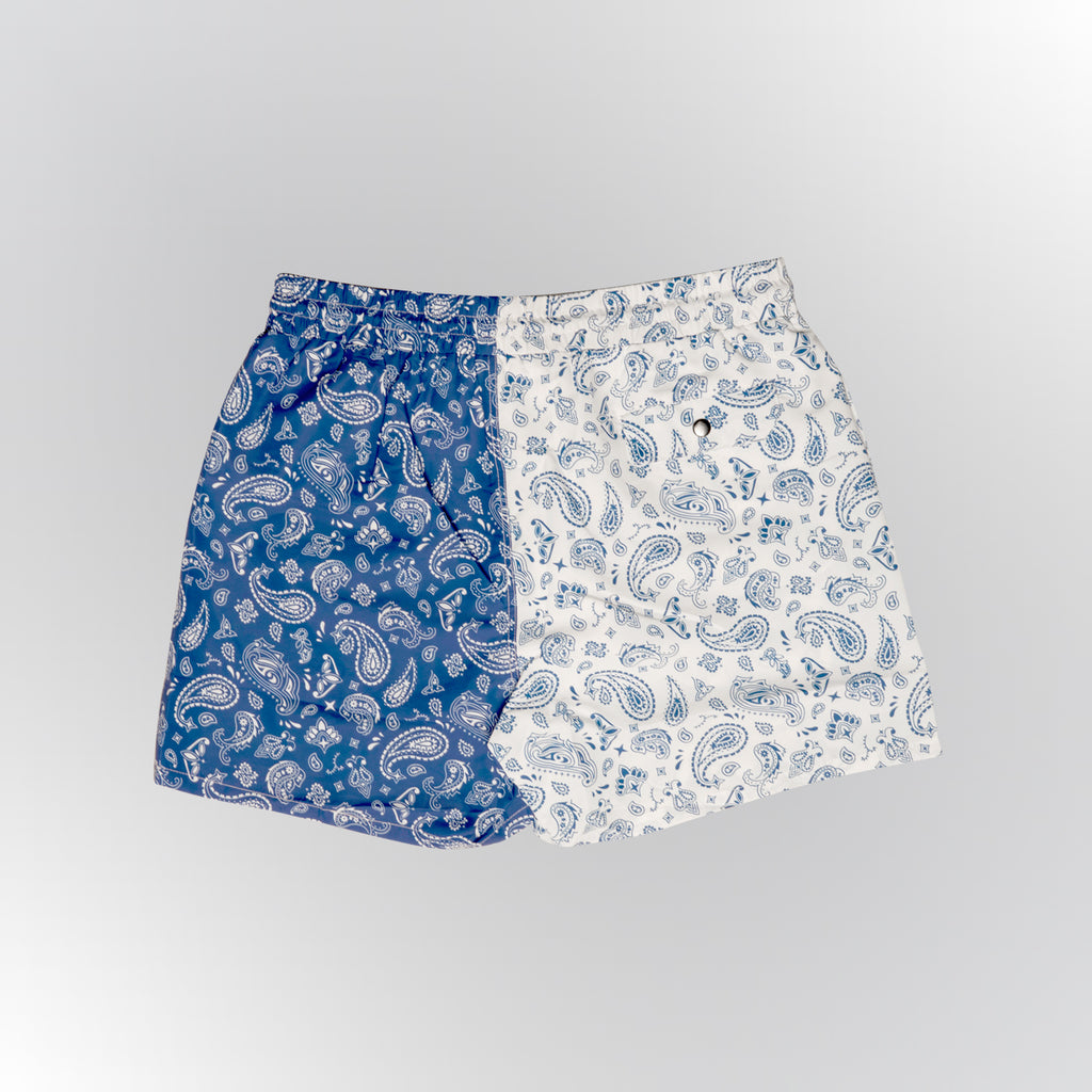 Most Hated Bandana Championship Shorts - White/Royal