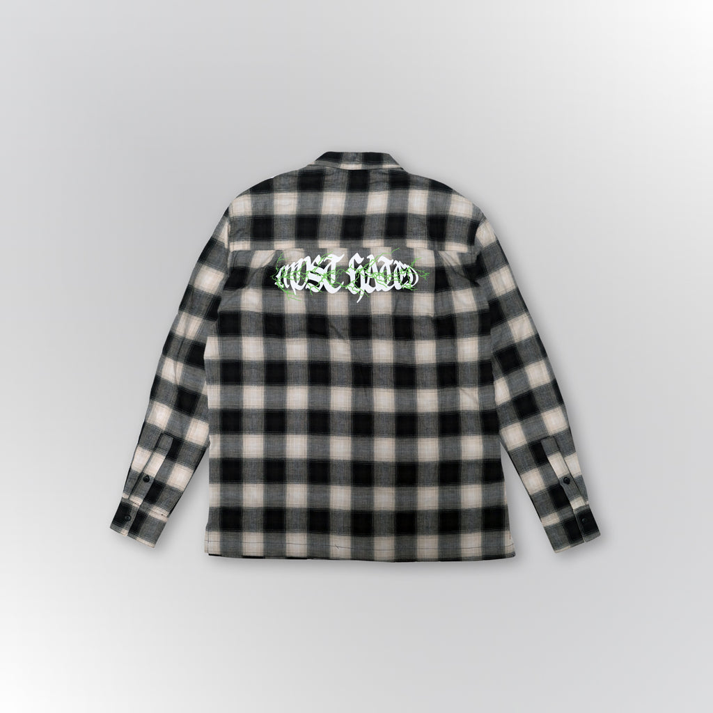 "MOST HATED ""LIGHTNING"" FLANNEL SHIRT - BLACK"