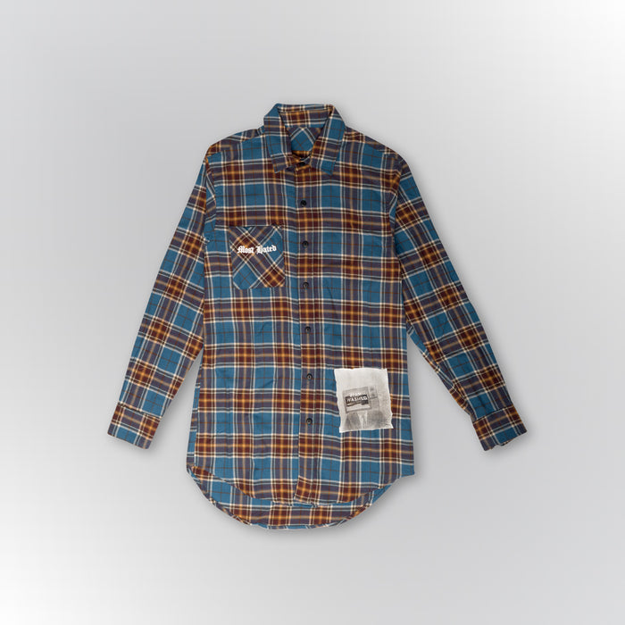 "MOST HATED ""BRAIN WASHED"" FLANNEL SHIRT - BLUE"