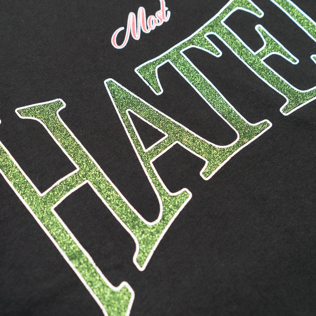 "MOST HATED ""VINTAGE GLITTER"" TEE - BLACK"