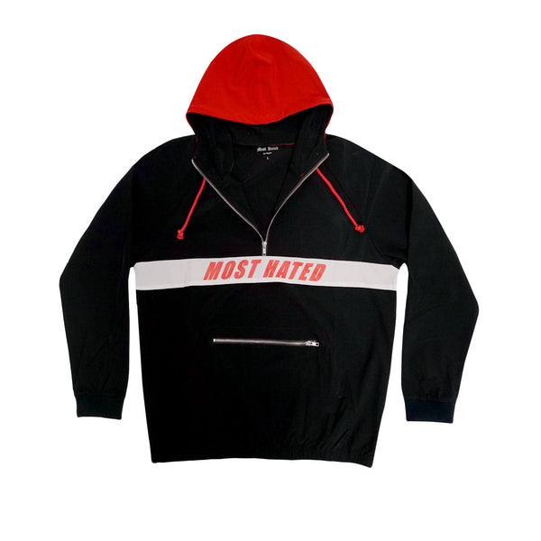 Most Hated Nylon Half Zip Jacket - Black