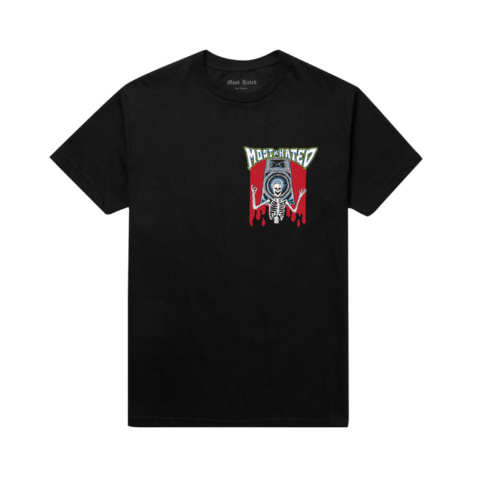 SKELETON SPEAKERS TEE - BLACK