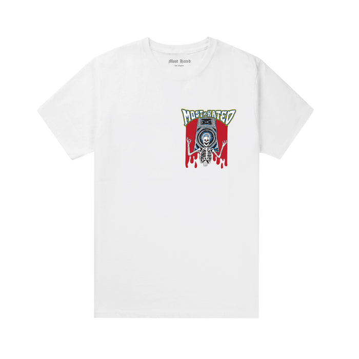 SKELETON SPEAKERS TEE - WHITE