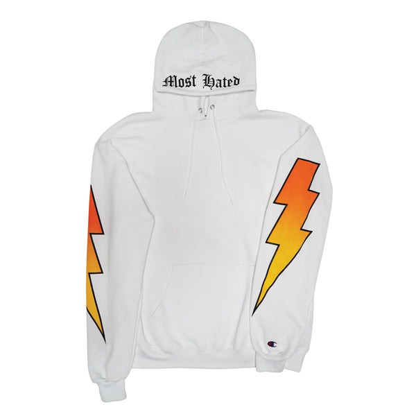 Most Hated Champion Bolt Hoodie - White