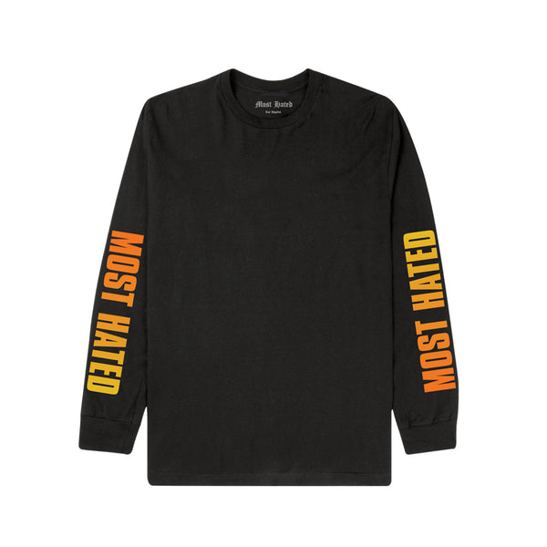 Most Hated Gradient L/S Tee -  Black