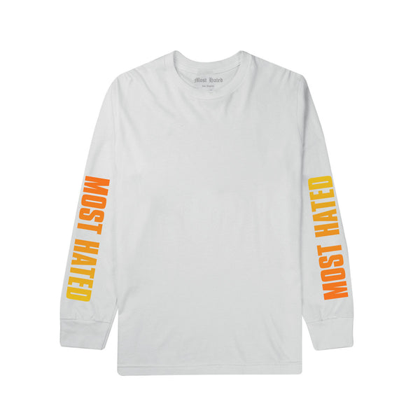 Most Hated Gradient L/S Tee -  White