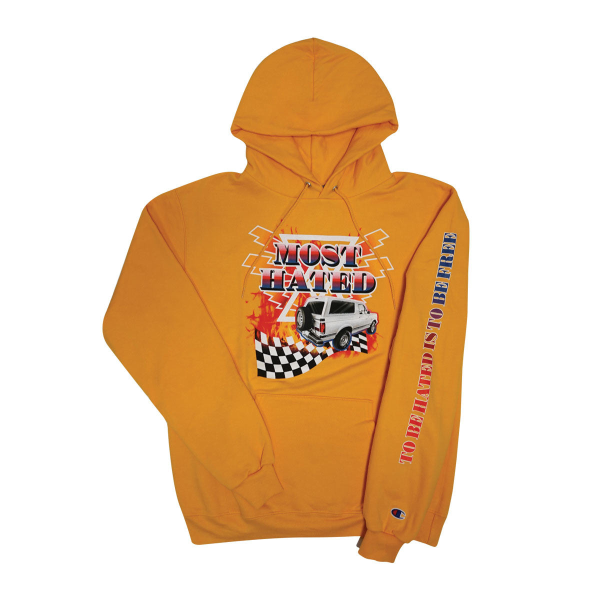 Most Hated Champion Bronco Hoodie - Gold