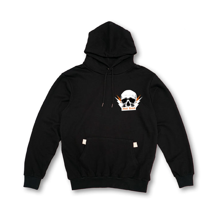 MOST HATED PARTY SKULL HOODIE - BLACK
