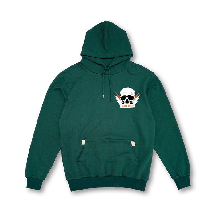 MOST HATED PARTY SKULL HOODIE - GREEN