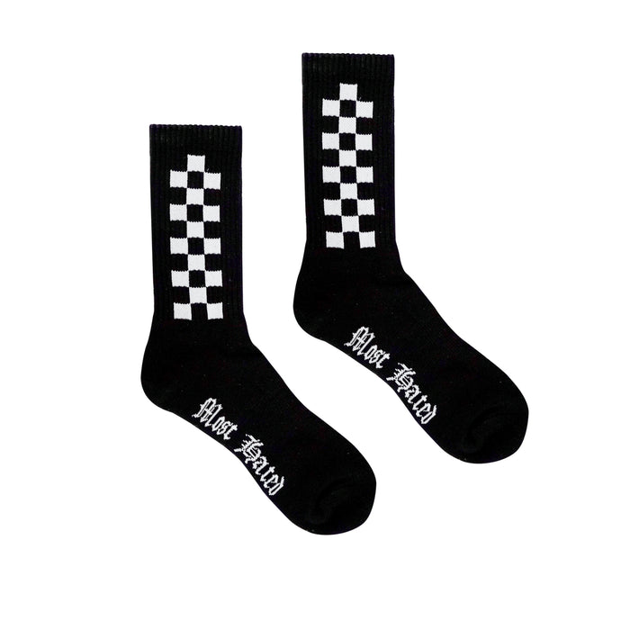 MHP Checkered Socks - Black
