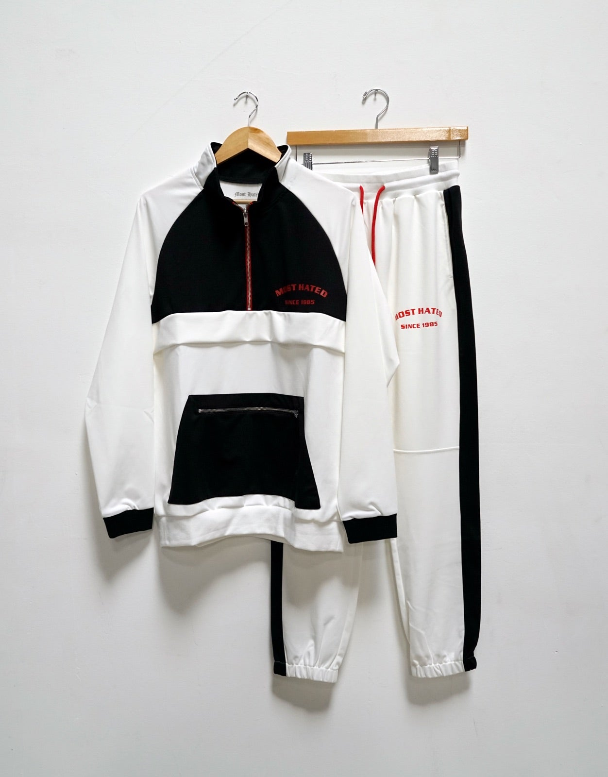 Most Hated Half Zip Track Jacket - White