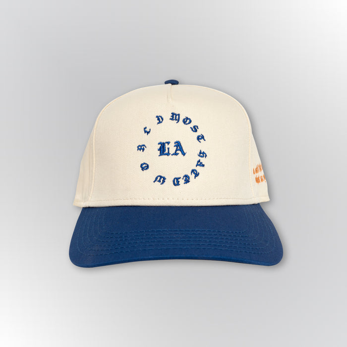 Most Hated World Snapback - Blue/White