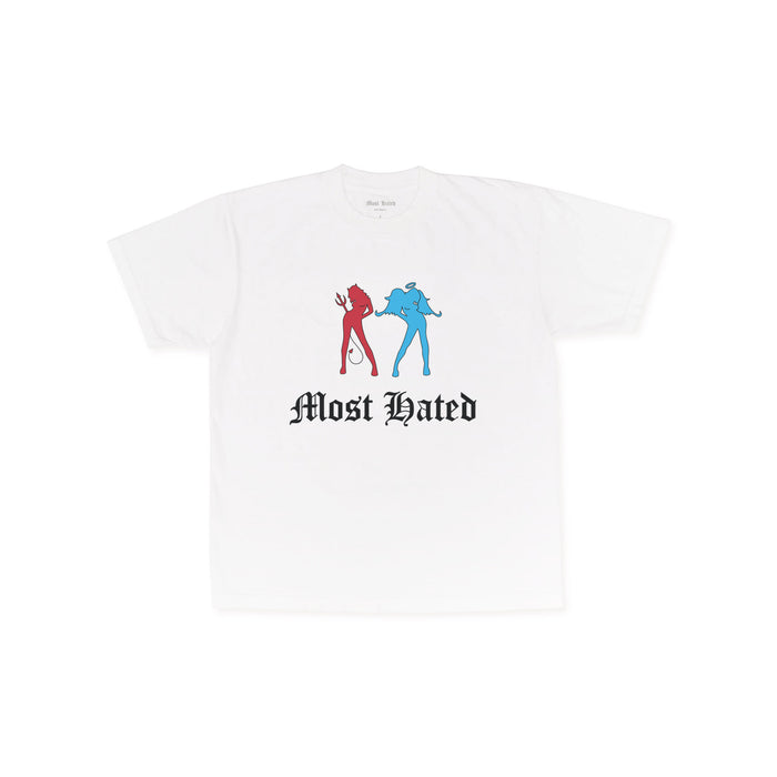 "MOST HATED ""ANGEL DEVIL"" TEE - WHITE"