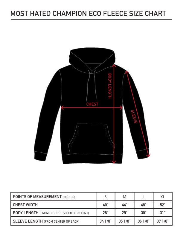 Most Hated Champion Bolt Hoodie - Black