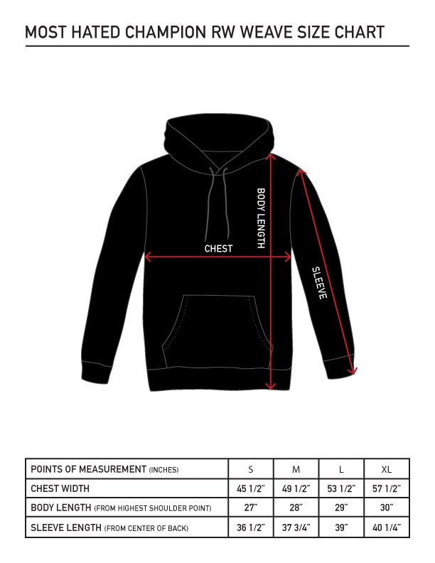 Most Hated Champion Reverse-weave Sweatshirt - Red