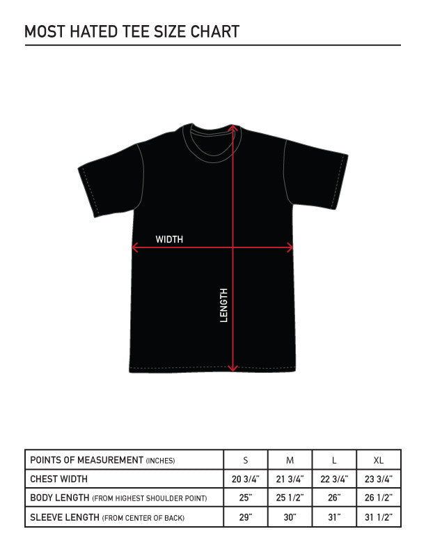 Most Hated Cafe Tee - Black