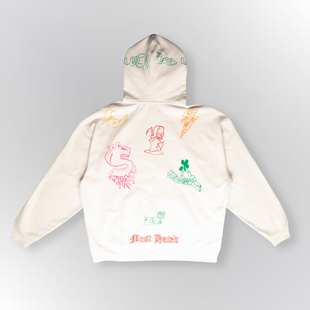 Most Hated Sketch Hoodie - White