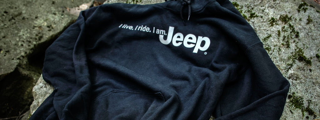 Jeep sweatshirt, part of Jeep merchandise