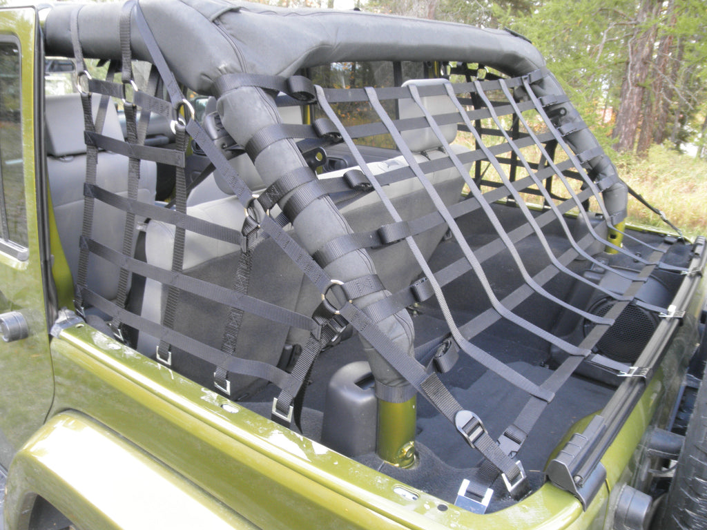 Three Piece Wraparound Net for 4 Door Wranglers by Aspen Manufacturing ('07 - '18 Wrangler JK) - Jeep World