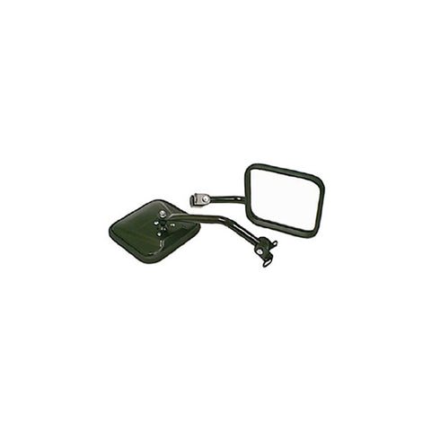CJ-Style Side Mirror Kit, Black by Rugged Ridge ('87-'95 Jeep Wrangler YJ)