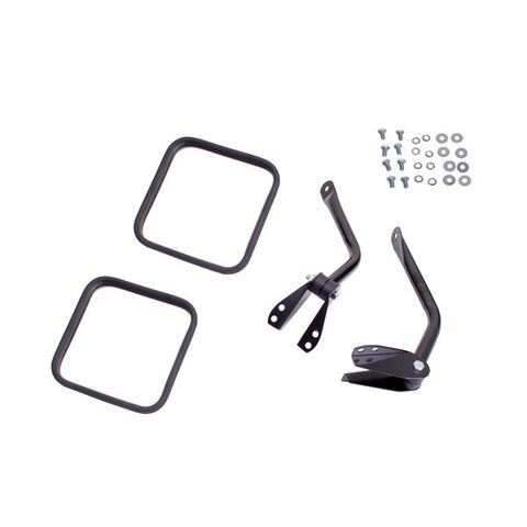Side Mirror Kit, Black by Rugged Ridge ('55-'86 Jeep CJ Models)