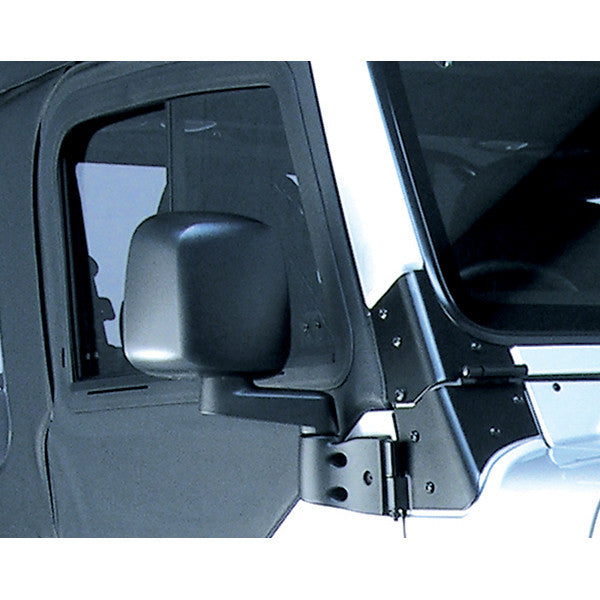 Door Mirror, Black, Right Side by Rugged Ridge ('87-'06 Jeep Wrangler YJ, TJ)