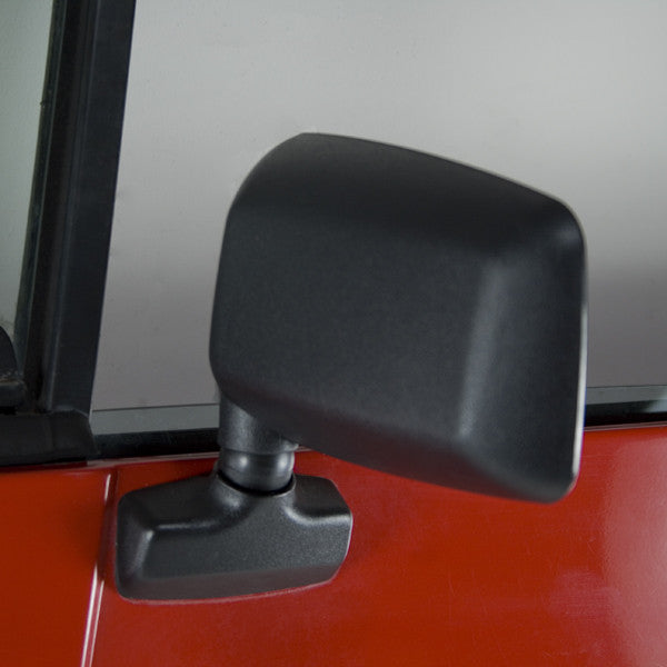 Door Mirror, Black, Left Side by Rugged Ridge ('87-'95 Jeep Wrangler YJ)